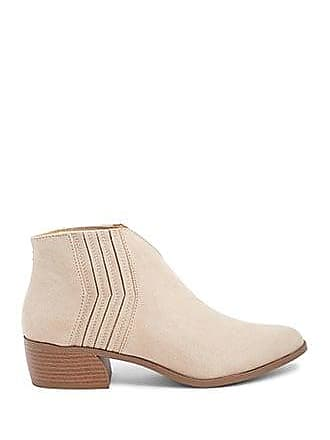 Forever 21 Forever 21 Faux Suede V-Cut Ankle Boots Taupe