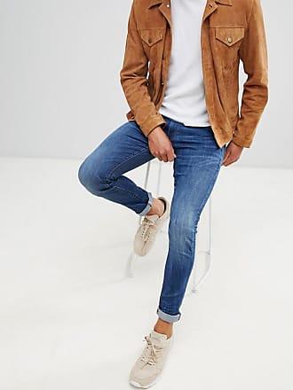 283da5a4d4e G-Star 3301 deconstructed skinny fit jeans in medium indigo aged - Blue