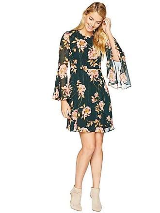 5fe28deadc249 Donna Morgan Lurex Chiffon Fit and Flare Dress (Jungle Green/Blush Multi)  Womens