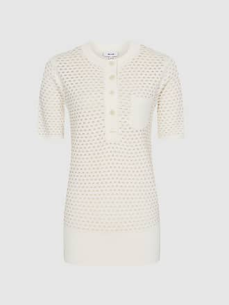 98c5ad6b28bb2 Reiss Coleen - Pointelle Knitted Top in Neutral