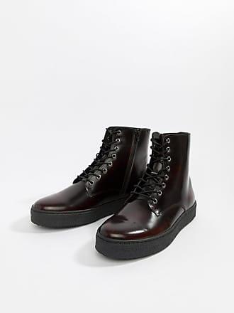 Zign Shoes Stivaletti stringati bordeaux extra lucidi con suola preformata  - Rosso ba0e2422516