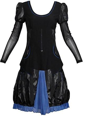 bcdf8c1637f Krizia 1990s Krizia Vintage Blue + Black Avant Garde Mesh Goth Parachute  Dress