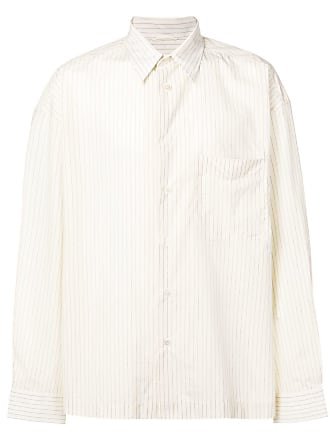 Golden Goose Camisa risca de giz - Neutro