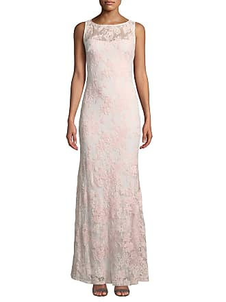 Karl Lagerfeld Sleeveless Lace Illusion Mermaid Gown