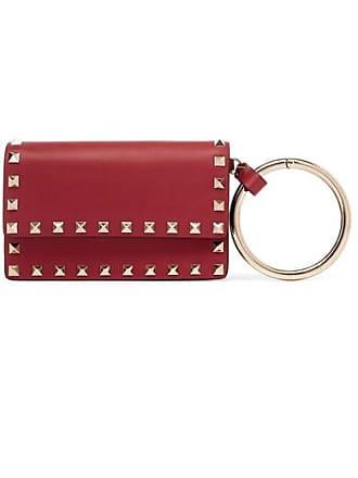 f8de3013adb1 Valentino Valentino Garavani The Rockstud Small Leather Pouch - Red
