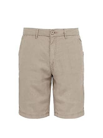 Onia Austin Mid Rise Linen Shorts - Mens - Beige