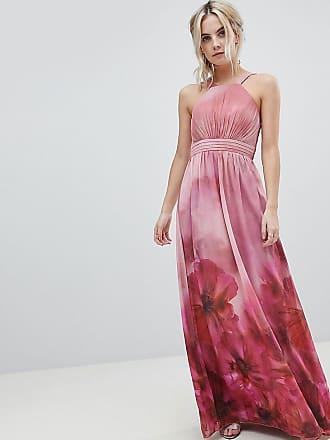 67aa2b93e4 Little Mistress Petite High Neck Full Bloom Floral Maxi Dress