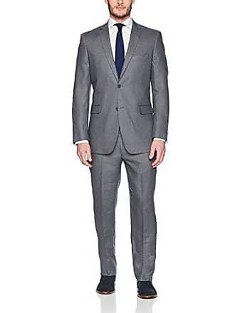 U.S.Polo Association Mens Linen Suit, Grey, 44 Long