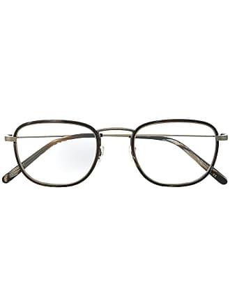 Oliver Peoples Armação de óculos quadrada - Marrom