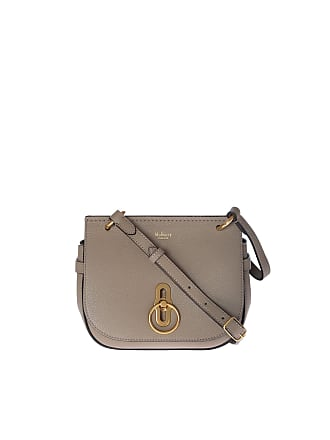 4127c85940 Mulberry Small Amberley Satchel bag in dove grey leather
