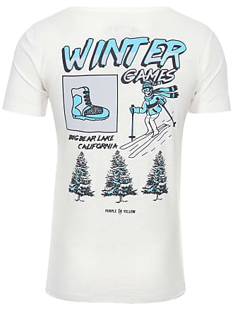 PURPLE YELLOW CAMISETA MASCULINA WINTER GAMES - OFF WHITE
