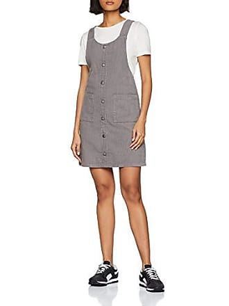 New Look Cord Button Front Pinny 6061886, Robe Femme, Gris (Mid Grey 4 ce1df82a2507