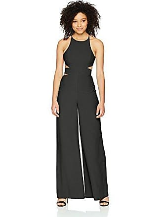 39752346333 Halston Heritage Womens Sleeveless Side Cut Out Wide Leg Jumpsuit