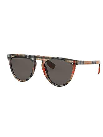 fe4ccfb65ec1 Burberry Flattop Acetate Check-Arms Aviator Sunglasses