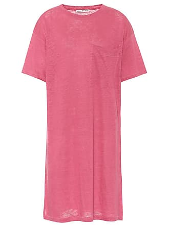 Acne Studios Saga linen T-shirt dress