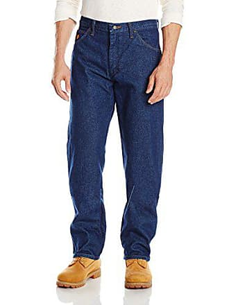 Wrangler Mens Flame Resistant Relaxed Fit Jean,Blue,34x32