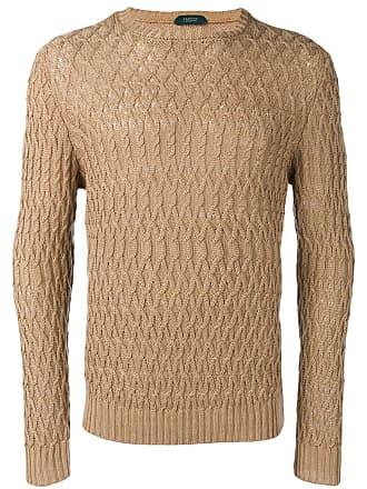 Zanone Suéter de tricô - Marrom