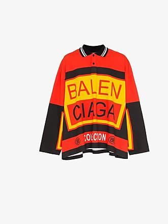 Balenciaga logo print polo shirt