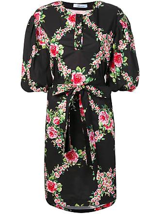 9d30a6be8 Blumarine Vestido com estampa floral e cinto - Preto