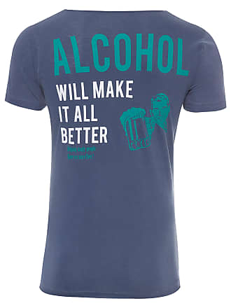 PURPLE YELLOW CAMISETA MASCULINA ALCOHOL - AZUL