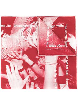 TAKAHIROMIYASHITA TheSoloist. Bandana The Grunge Years - Vermelho