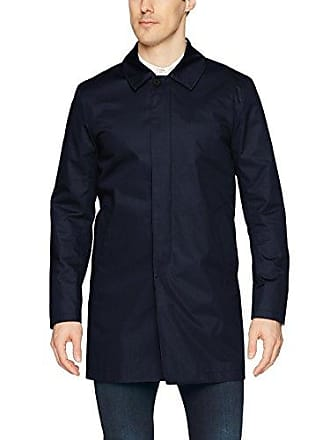 J.Lindeberg Mens Water Repellent Twill Coat, JL Navy, Large