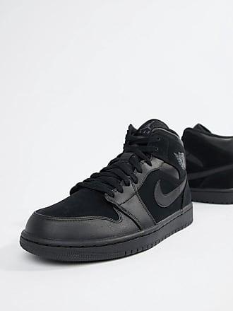 premium selection b9a8d ca054 Nike Nike Air Jordan 1 Mid Trainers In Black 554724-050