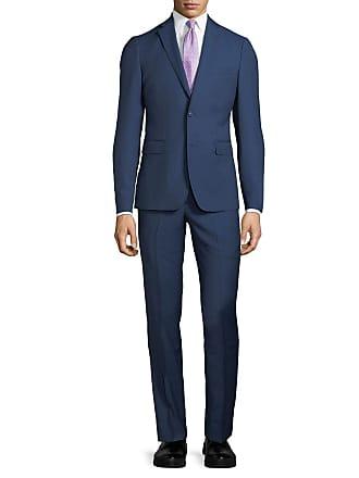 Neiman Marcus Slim-Fit Two-Piece Wool Suit, Navy