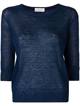 Zanone Blusa de tricô mangas 3/4 - Azul
