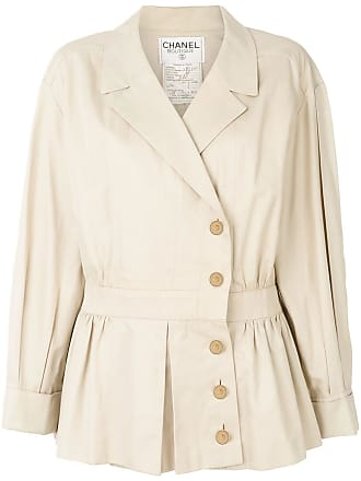 Chanel 1990 cropped trench coat - Neutrals