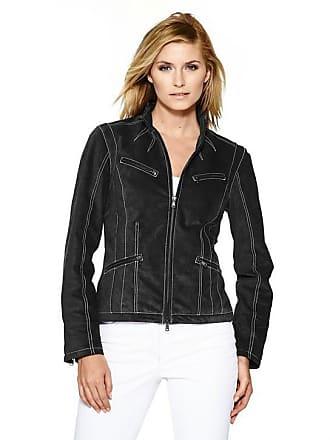 1337002e33f4 Heine Damen Lederjacke mit Kontrast-Stitching, schwarz, Gr. 34, heine CASUAL