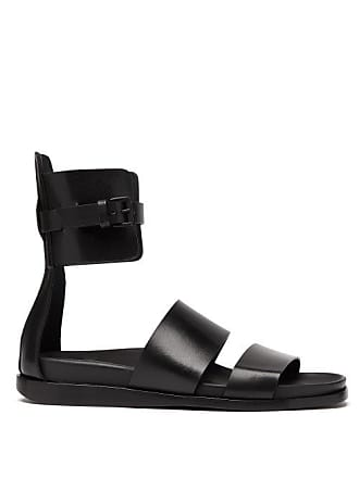 bac38aa77f51 Ann Demeulemeester Leather Gladiator Sandals - Womens - Black
