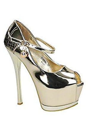 a6d7e898176166 Jumex Luxus Damenschuhe High Heels Party Glamour Pumps Peeptoe Extrem  Plateau Nude (38