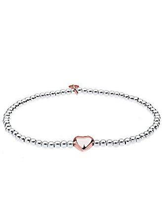 f50bad5c32fe Elli Damen-Armband Herz Liebe Freundschaft Liebesbeweis Bicolor rosé vergoldet  silber 925