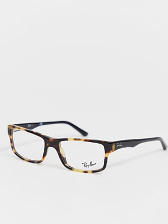 818caf2997a55 Ray-Ban thin square glasses with tortoiseshell frame