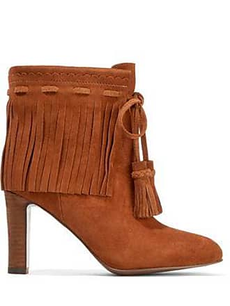 9bc99d92bcb11 See By Chloé See By Chloé Woman Fringed Suede Ankle Boots Brown Size 35.5