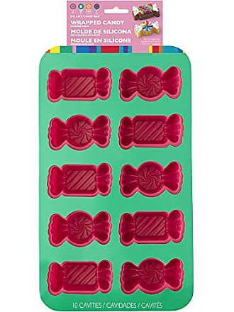 Wilton 2105-4160 Bar Multi 10 Cavity Dylans Wrapped Candy Shaped Mold, Pink