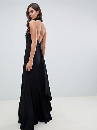 6e74fe70d27 Asos Tall ASOS DESIGN Tall high neck maxi dress in crepe - Black