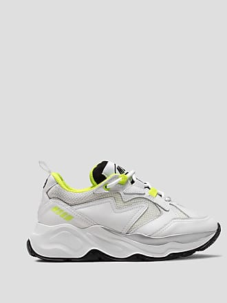 Msgm attack sneakers with fluorescent details