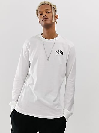 The North Face Red Box long sleeve t-shirt in white - White