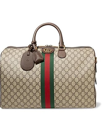 Gucci Ophidia Medium Textured Leather-trimmed Printed Coated-canvas Weekend  Bag - Brown f4bcb339e4e05