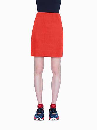 Akris Mini Skirt in Bonded Jersey Two Tone