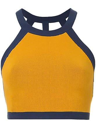 Nagnata Top esportivo cropped - Amarelo