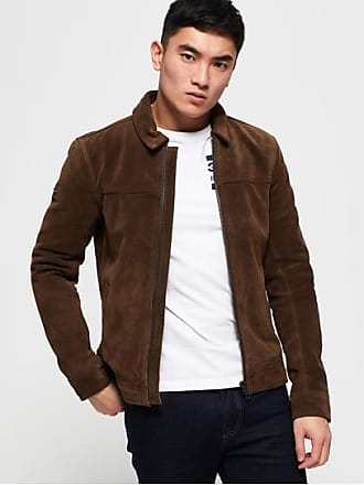 Superdry Giacca in pelle scamosciata Curtis 7d7b8673db6