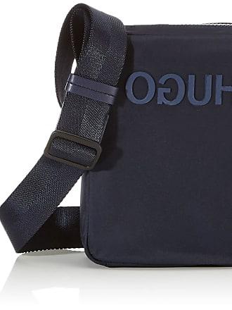 HUGO BOSS Record_ns Zip, Mens Canvas and Beach Tote Bag, Blue (Navy), 5x21x16.5 cm (B x H T)
