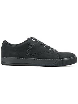Lanvin perforated low-top sneakers - Black