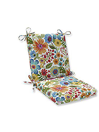 Pillow Perfect Outdoor | Indoor Gregoire Prima Squared Corners Chair Cushion, Blue, 36.5 X 18 X 3