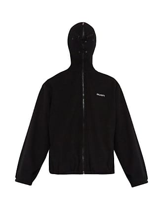VETEMENTS Logo Print Face Mask Fleece Jacket - Mens - Black