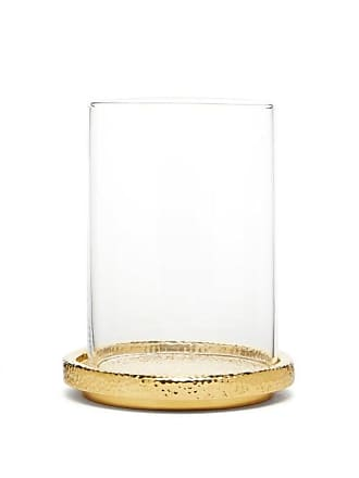 Aerin Tulln Mini Glass Hurricane Candle Vase - Gold