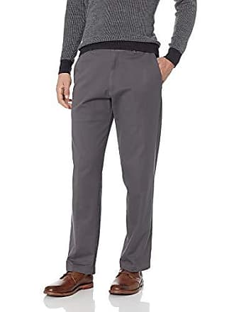 Haggar Mens Work to Weekend PRO Classic Fit Flat Front Pant, Charcoal, 34Wx34L